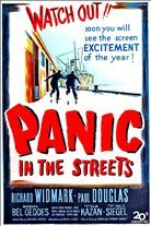 Panic in the Streets (1950). Starring: Richard Widmark, Paul Douglas, Barbara Bel Geddes and Jack Palance