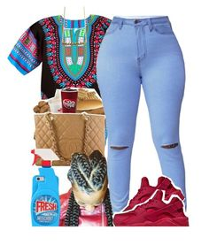 """Let your Melanin Pop Bihh"" by fashionkilla-lex ❤ liked on Polyvore featuring Chanel, NIKE and Moschino"