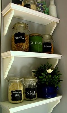 kitchen shelves DIY