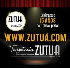 🎁🎂Celebramos nuestro aniversario con nuevo portal www.zutua.com🎁🎂 Portal, Blog, Blogging