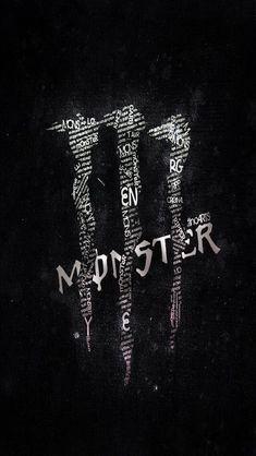Black and white monster energy - Backgrounds unsorted - Monster Energy Drink Logo, Monster Energy Girls, Black Wallpaper, Cool Wallpaper, Bebidas Energéticas Monster, Cr7 Jr, Fox Racing Logo, Best Energy Drink, Typography Wallpaper