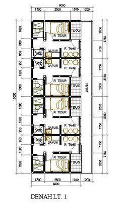 Desain Rumah Petakan di Lahan 6×15 M2 - Eramuslim