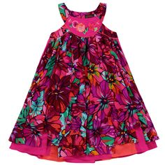 Catimini Flower-printed voile sundress Estampado - 61210 | Melijoe.com