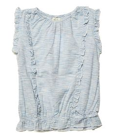 This Blue Marble Lacey Top - Toddler & Girls by Olive Juice is perfect! #zulilyfinds