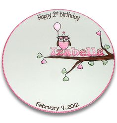 Namesake 1st Birthday Signature Platter by SerendipityCrafts, $70.00