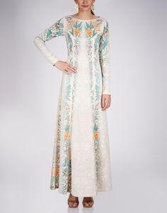 KAVITA BHARTIA Tapestry Print Maxi Dress $297 MADE TO MEASURE maxi dress scuba fabric, with lycra zip on side