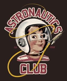 Lovethis for a boys room!! Astro Club (brown) Art Print by Eric Zelinski   Society6