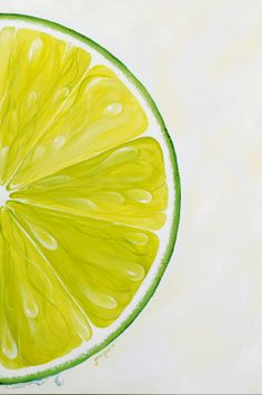 Diptych of Lime--Acrylic on canvas. Janice Hughes Rouse