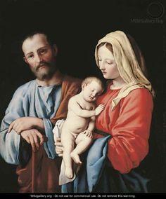 The Holy Family 3 - Giovanni Battista Salvi, Il Sassoferrato via May