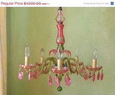 Chandelier Lighting,  Handmade One of a Kind