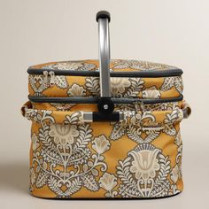 One of my favorite discoveries at WorldMarket.com: Goddess Print Insulated Double-Decker Tote Bag with Blanket