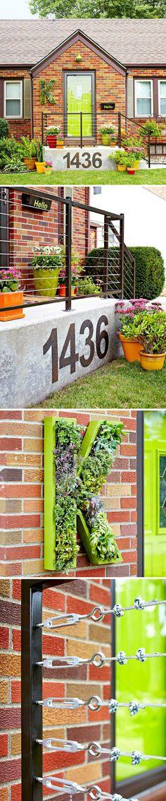 入口空间,可爱的K行多肉植物门牌_来自八月婚礼的图片分享-堆糖网