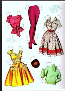 Miss Missy Paper Dolls: Tuesday Weld Paper Doll-clothes