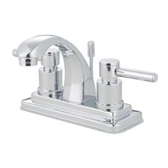 Found it at Wayfair - Concord Double Handle Centerset Bathroom Faucet with Brass Pop-Up Drain