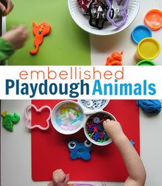 Playdough play- add in some googly eyes, beads and explore the possibilities! #playdough