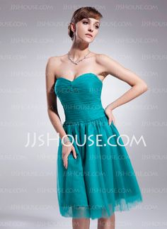 Homecoming Dresses - $115.99 - A-Line/Princess Sweetheart Knee-Length Tulle Homecoming Dress With Ruffle (022010018) http://jjshouse.com/A-Line-Princess-Sweetheart-Knee-Length-Tulle-Homecoming-Dress-With-Ruffle-022010018-g10018