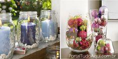 decoração-criativa-baratinha-simples-para-Natal-potes-vidros-velas