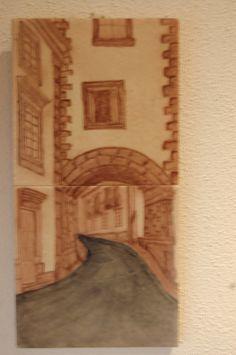 Pintura em azulejo
