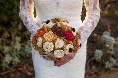 Fall bridal bouquet | sola bouquet | rustic wedding bouquet | rustic wedding | burlap rose bouquet | keepsake bouquet | alternative bouquet Rustic Bridal Bouquets, Bridal Bouquet Fall, Rose Bouquet, Wedding Bouquets, Wedding Burlap, Rustic Wedding, Burlap Roses, Alternative Bouquet, Sola Flowers