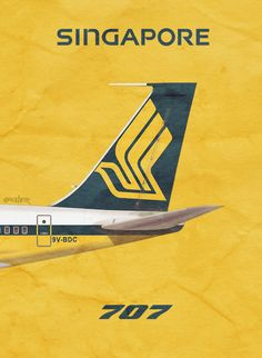 Singapore Airlines 707, by Rick Aero www.Facebook.com/VintageAirliners www.VintageAirliners.com