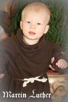 Simple children's reformation costume ideas (monk and ladies)
