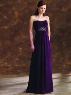 A modern, elegant option for a bridesmaid dress. And it can be worn a second time!!