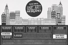 Check out Line Art Ink Brushes by The Makery on Creative Market