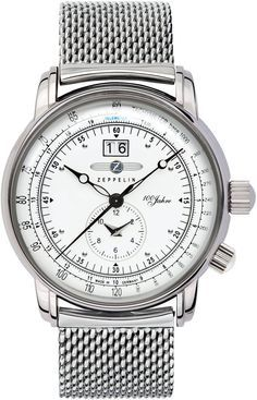 Zeppelin Watch 100 Years Zeppelin #bezel-fixed #bracelet-strap-steel #brand-zeppelin #case-depth-11mm #case-material-steel #case-width-42mm #classic #date-yes #delivery-timescale-call-us #dial-colour-white #gender-mens #movement-quartz-battery #official-stockist-for-zeppelin-watches #packaging-zeppelin-watch-packaging #style-sports #subcat-100-years-zeppelin #supplier-model-no-7640m-4 #warranty-zeppelin-official-2-year-guarantee #water-resistant-50m