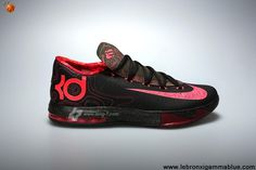 Low Price Black Atomic Red-Medium Olive-Fire Red Meteorology Nike KD VI 599424-006 Basketball Shoes Store