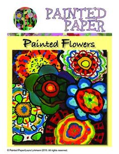 Art projects for kids. Tempera Paint, Painted Flowers.