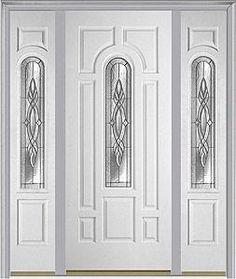 Door with two sidelites. Milliken Millwork. Brentwood - 632BRE  sc 1 st  Pinterest & Entry door. Double door. Milliken Millwork. Brentwood - 632BRE ...