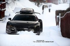If we absolutely had to venture out into the snow, we'd be sure to take our weather ready snow plow - the Audi R8