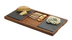 Double Slate Cheese Board is on Rue. Makes an attractive cheese, fruit and bread display base. Cool Kitchen Gadgets, Cool Kitchens, Granite, Slate Cheese Board, Food Serving Trays, Specialty Knives, Concrete Art, Bike Storage, Wood Stone