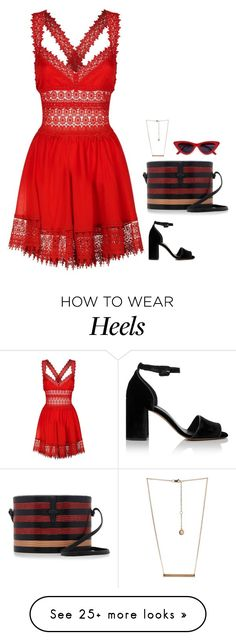 A fashion look from March 2018 featuring summer sun dresses, black block heel sandals and striped purse. Browse and shop related looks. Charo Ruiz, How To Wear Heels, Party Looks, Whistles, Bcbgeneration, Summer Dresses, Casual Chic, Sexy, Polyvore