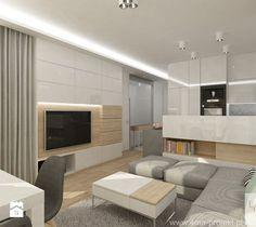 Aranżacje wnętrz - Salon: Projekt mieszkania w Pruszkowie - pow. 52,5 m2. - Salon, styl nowoczesny - 4ma projekt. Przeglądaj, dodawaj i zapisuj najlepsze zdjęcia, pomysły i inspiracje designerskie. W bazie mamy już prawie milion fotografii!