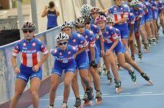 World Team 2012 - inline speed skating McKenzie Browne Roller Derby, Roller Skating, Inline Speed Skates, Inline Skating, Cherries, Diy For Kids, Bikini Tops, Hobbies, Racing