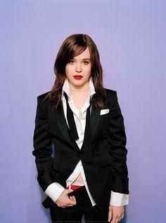 Ellen Page looks yummy in a suit.