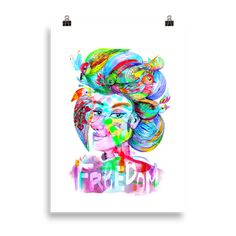 """These matte, museum-quality posters are printed on durable, archival paper. """"Those little nimble musicians of the air, that warble forth their […] My Design, Freedom, Paper, Artwork, Prints, Liberty, Political Freedom, Work Of Art, Auguste Rodin Artwork"""
