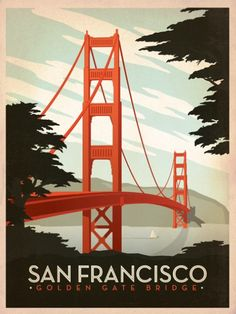 San Francisco. Love the flat colors, plakastil influence
