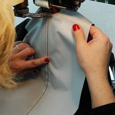 Sewn at our factory in Europe by one of our skilled seamstresses. To meet our high standards and to guarantee that every coat is wind and water proof, every single seam is carefully sealed with tape. #function #feminine #raincoat #rain #regn #rains #rainwear #weloverain #scandinavian #sweden #foreveryrainyday #camillamorch #camillamørch #allweathercoat #arainyday #designedinsweden #outherwear #forallwomankind