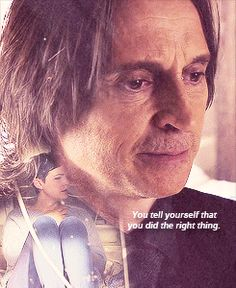 But even you don't believe it. Poor Rumple can't help but hurt people but then he can't stop regretting it... you can tell he's ashamed of his past but is too scared to give up his powers.