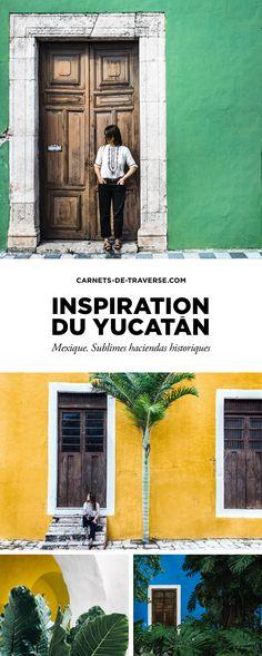 Le Yucatán. Dans nos esprits s'impriment des images d'architectures colorées au charme colonial désuet, des couleurs vives et des atmosphères douces de villages endormis…  Photocollage, carnet de voyage mis en image au fil de nos pas.