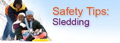 Sledding is fun, but it can also be dangerous. Keep your kids safe this winter! #Sledding #Snow #WinterSafety