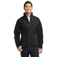 Port Authority Men's Black Welded Soft Shell Jacket