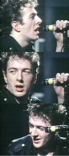 Joe Strummer...'We're taking the soul train...if you don't want to come, there's always the toilets...'