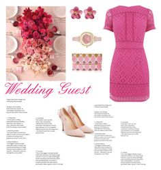 """What to wear to:A wedding(RSVP)"" by styleislikemycoffee ❤ liked on Polyvore featuring JustFab, From St Xavier and Kate Spade"