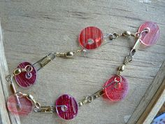 fishing tackle bracelet from shrinking recycled plastic