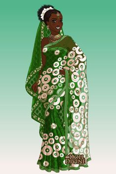Miss Nigeria ~ by LadyAquanine ~ created using the Sari doll maker | DollDivine.com