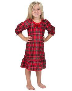 Laura Dare Baby Girls Holiday Tartan Plaid Long Sleeve Nightgown, 12m