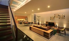 Narrow-House-Jakarta_Living_stairs